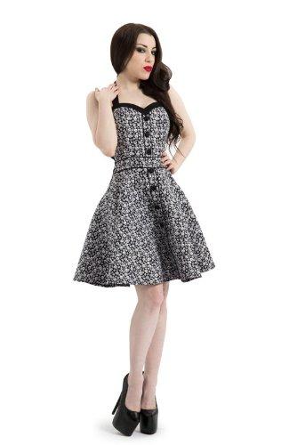 Voodoo Vixen Damen Kleid Mehrfarbig Schwarz/Weiß