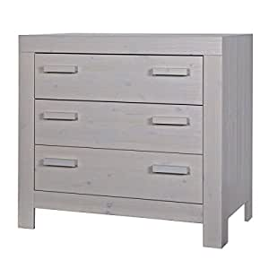 Commode pin massif 60x120 Aaron gris galet