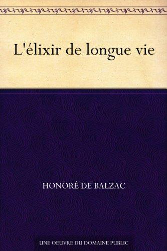 Couverture du livre L'élixir de longue vie