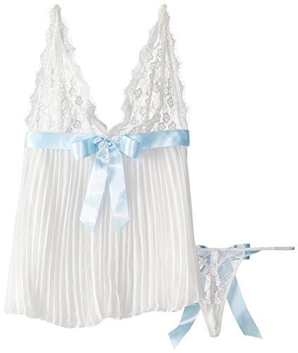 (TG. XL/XXL) Bianco (Pearl) Flyaway Indietro bamboletta delle donne Dreamgirl, P