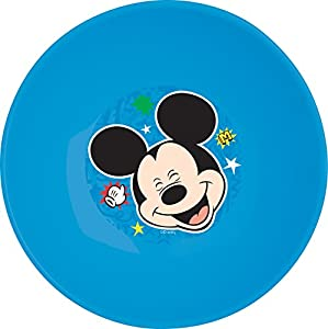 Ciao 33946-Plato hondo Mickey Ratón, Azul