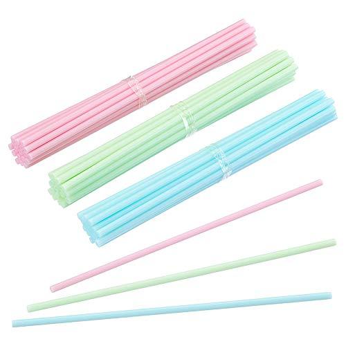 Joloy 60Pcs Kunststoff Lollipop-Stick Kuchen Pop-Stock DIY Süßigkeit Stock-Eiscreme-Lutscher Treat-Stick