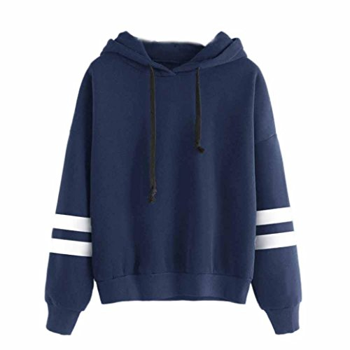 4-sterne-hoodie (Damen Hoodie Kapuzenpullover,Sannysis Frauen Pullover mit Kapuze Tops Bluse (M, Blau-4))