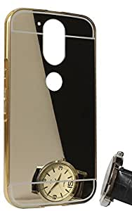Carla Luxury Metal Bumper + Acrylic Mirror Back Cover Case for Moto G4 Plus + Digital LED Watches Unisex Silicone Rubber Touch Screen by carla Store.