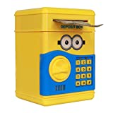 #7: MousePotato Electronic Piggy Bank Password Lock Money Safe for Coins and Notes Collecting (YELLOW)