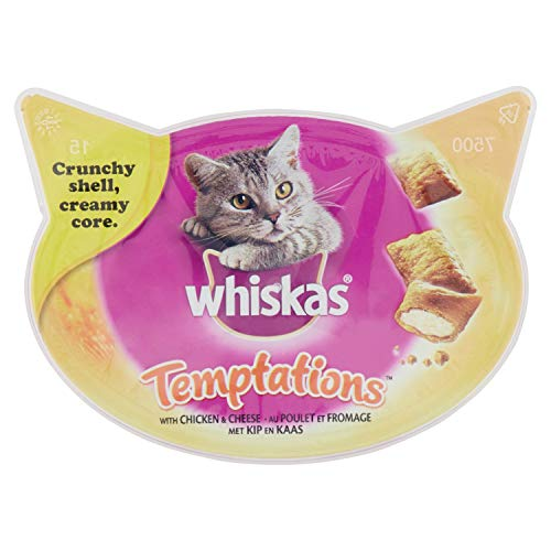 Whiskas Temptations Cat Treats 60g Beef-Chicken & Cheese