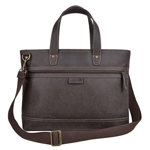 tll002 TROOP Londres faux cuir sac bandoulière avec double haut Poignées - Chic Sac pour végétariens