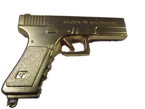 Sammelstück replik herren jungen vollmetall maßstab modell Golden Gold österreichisch Glock gewehr anhänger schlüsselring - Geschrieben von London von Fett-catz -