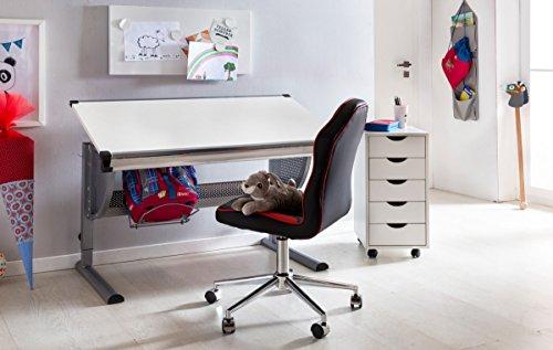 Sedie Da Scrivania Per Ragazzi : Kadimadesign bambini sedia da scrivania julian nero rosso per i