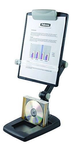 Fellowes - Atril para documentos con base estable y brazo flexible, color gris