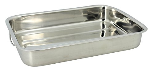 TheKitchenette 4615222 Plat Rectangle Inox, 40 cm
