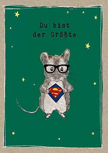 r Geburtstag Karte Glitzersteine Grußkarte Superheld 17x12cm ()
