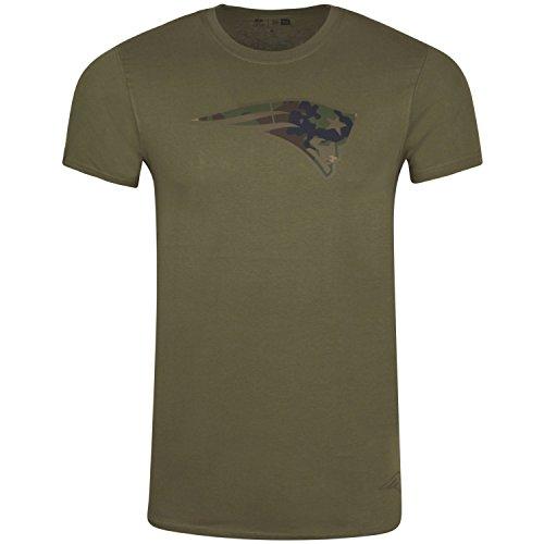 New Era Herren Oberteile / T-Shirt NFL Camo New England Patriots olive 2XL (Camo T-shirt Logo)