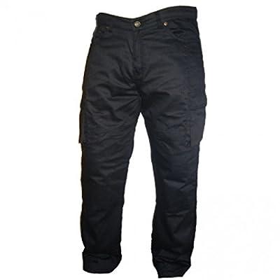 Australian Bikers Gear Black Motorcycle Kevlar CE Armoured Cargo Jeans Trousers