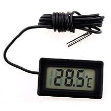 Digital LCD Thermometer Refrigerator Fridge/Freezer/Aquarium/FISH Temperature Black