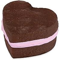Soft N Slo Squishies 53154 Sweet Shop Original Chocolate Heart Cake Soft Toy
