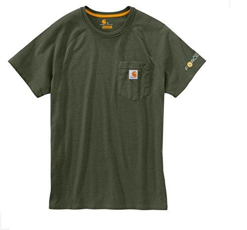 Force Cotton T-Shirt Carhartt Moss