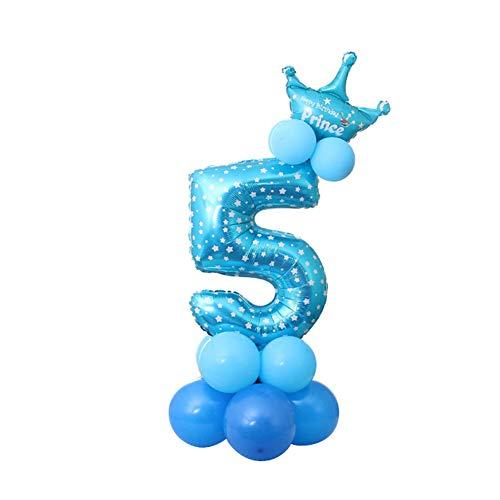 NUOCAI Anzahl Folienballons, 13pcs / Birthday Party Decor Jubiläumsparty geliefert Dekorationen Ballons Zubehör Feier Dekorationen