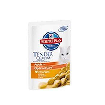 Hill's Science Plan Feline Adulte Santé & Equilibre Sachet de Nourriture pour Chat 1 à 6 Ans Poulet 12 x 85 g - Lot de 2