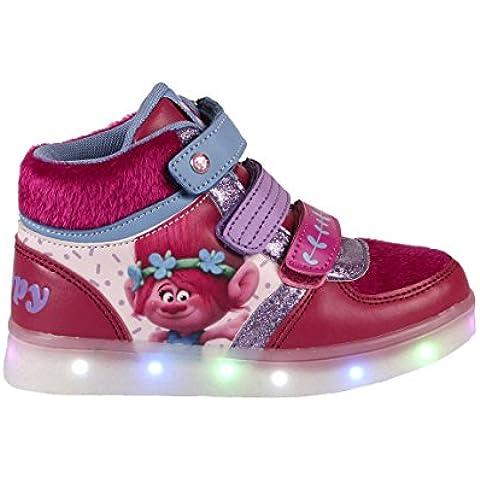 Trolls Poppy - Zapatilla deportiva alta bota casual con luz