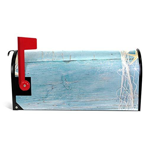 Bennigiry Briefkasten-Abdeckung, Seestern, Sandholz, magnetisch, 63,5 x 5,8 cm