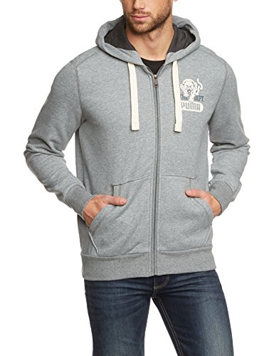PUMA Herren Jacke Fun Ath.Hooded Sweat Jacket, Fl, Medium Gray Heather, M, 830678 14 (Ath Heather)