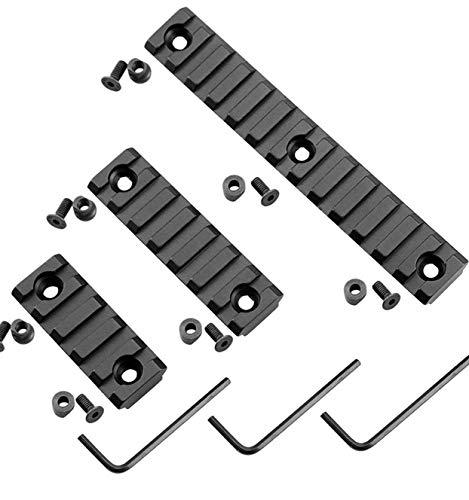 Tree-on-Life Haltbare Schienenprofile für das Keymod-System Modkin Lightweight Keymod Rail Mount Packung mit 3 Aluminium-Schienen mit 13 Steckplätzen und 7 Steckplätzen und 5 Steckplätzen -