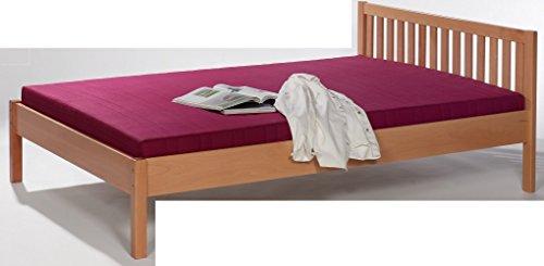 6-6-1726: schönes Bett - Stollenbett - Futonbett - Buche massiv - Liegefläche 90x200cm - Einzelbett