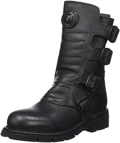 New Rock M-373X-S6 - Botas de Otra Piel Unisex Adultos, Negro (Negro (Black 001)), 42 EU