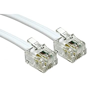 consoletronic� 5m adsl cable - premium quality/gold plated contact  pins/high speed internet broadband/router or modem to rj11 phone socket or  microfilter (5