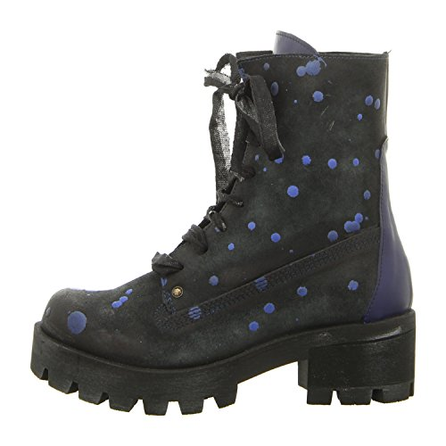Papucei Anica Blue Dots, Stivali donna, nero (blue dots), 39