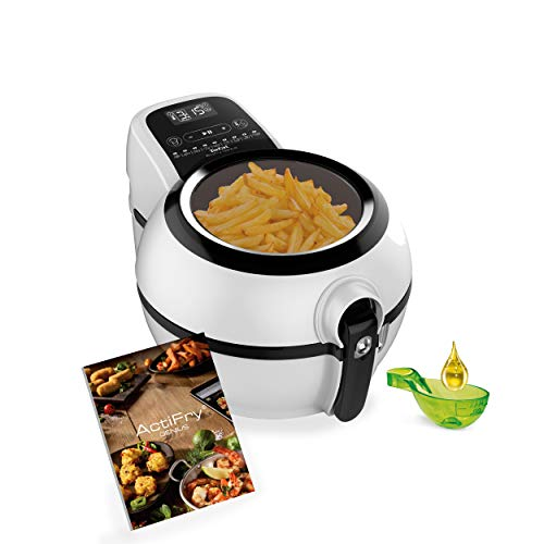 Tefal Actifry Genius Snaking FZ760015 - Freidora sin aceite de aire 1,2 kg, con 9 programas automáticos y accesorio para snacks, panel táctil intuitivo e incluye recetario, apto lavavajillas