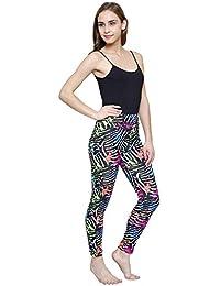 Vritraz Women's Buttery Soft Polyester 3D Digital Printed Full Length Legging (L_zebra-1, Multicolour, Free Size)
