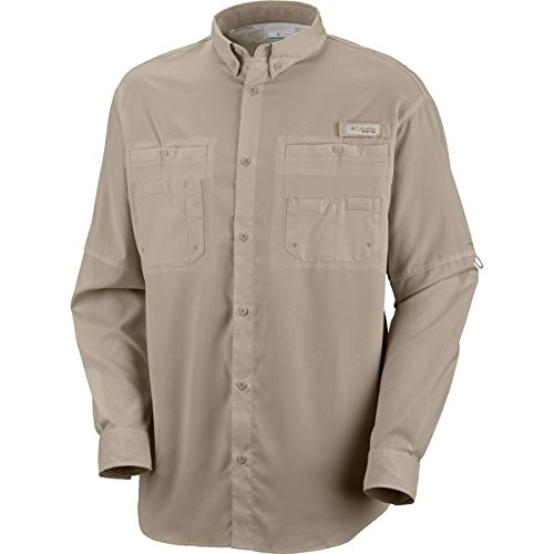 Tamiami Angeln Shirt (Columbia Mens PFG Tamiami II Long-Sleeve Angeln Shirt (Fossil, 3X-Large))