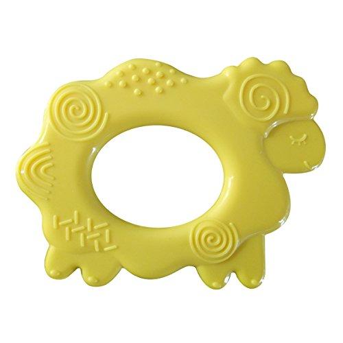 Megoday Baby Kinderkrankheiten Spielzeug Schafe, Texturen Design Silikon Beißringe, BPA-frei, Gelb