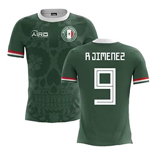 e6a1285c90d Airosportswear 2018-2019 Mexico Home Concept Football Soccer T-Shirt (Raul  Jimenez 9