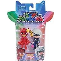 Figuras de acción con luz de PJ Masks, 2 unidades, Owlette y Luna Girl , Modelos/colores Surtidos, 1 Unidad
