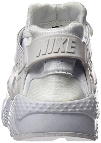 Nike Huarache Run (GS), Chaussures de Running Entrainement Garçon, Noir Multicolore (White-pure Platinum)