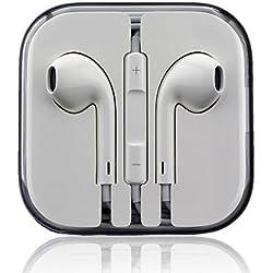 [Cable] Original EarPods Auriculares Md827ZM / Una para iPhone 5, 5c, 5s, 6, plus 6, iPad 5 Air Mini iPod Toque Clásico Nano-estéreo Auriculares con mando A distancia Control y Micrófono vitho Paño De Pulido (Reacondicionado Certificado)