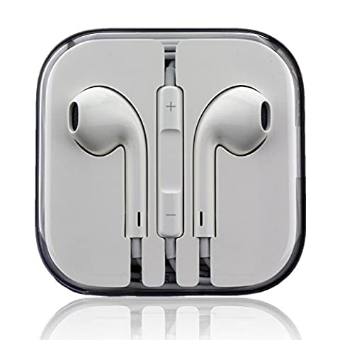 Original EarPods MD827ZM/A - iPhone 5, 5c, 5s, 6, 6 plus, iPad 5 Air Mini, iPod Classic, Touch, Nano - Stereo Headset Kopfhörer mit Fernbedienung und