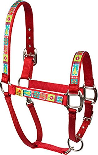 Rosso Haute Cavallo PJ Pet Products Retro Natale Equine Elite Design Alta Moda Premier qualità testa di cavallo collare, Piccolo