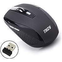 Wireless Mouse,THZY 2.4Ghz Wireless Mouse ottico mobile con 6 tasti, 3 DPI Livelli, USB Wireless ricevitore--grigio scuro
