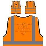 Die Braunen Sind Keine Gummibärchen Lieben Personalisierte High Visibility Orange Sicherheitsjacke Weste s299vo