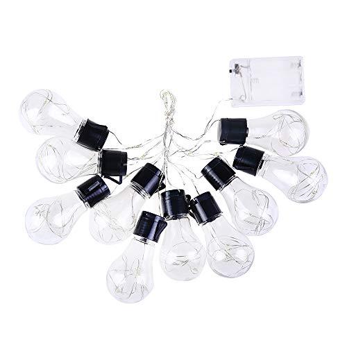 KonJin 10 LED Kugeln Lichterkette Außenbeleuchtung und Innenbeleuchtung Sternlicht für Weihnachten, Hochzeit, Party, Ferien Warmweiß Einfache kreative Persönlichkeit