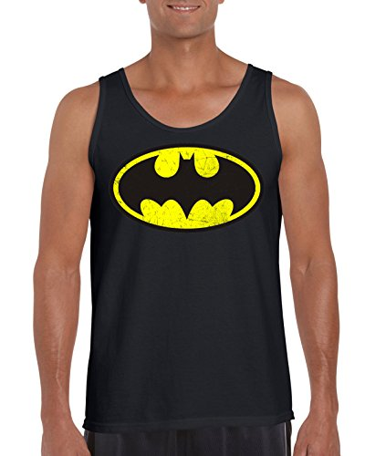 TRVPPY Herren Tank-Top Shirt Modell Vintage Batman, Schwarz, XL