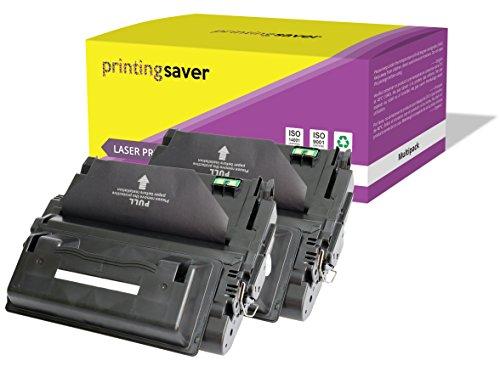 2X Printing Saver SCHWARZ Toner kompatibel für HP Laserjet 4300, 4300dtn, 4300dtns, 4300dtnsl, 4300n, 4300tn drucker -