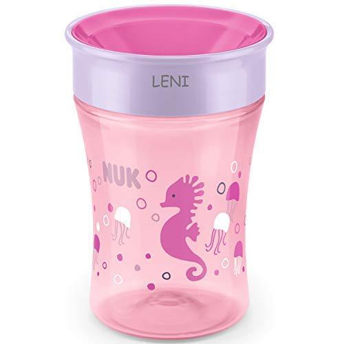 NUK Magic Cup, Trinklernbecher mit persönlicher Gravur, 230ml (rosa)