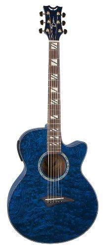 Dean Guitars PE QA TBL - Guitarra electroacústica, color azul