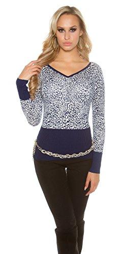 In-Stylefashion - Sweat-shirt - Femme bleu bleu foncé bleu foncé