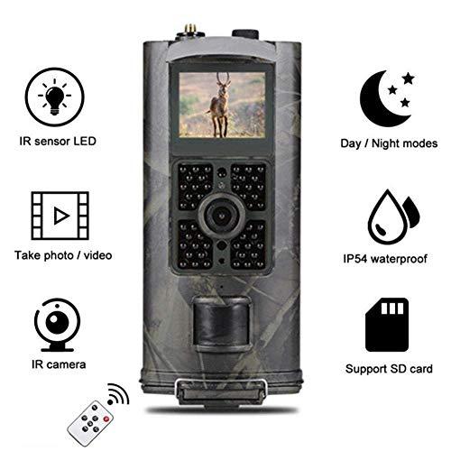 DOSNVG Jagdkamera, 940nm Trail-Jagdkamera, 16MP 3G, Nachtsicht Fotofallen , Wasserdicht , 120 Grad PIR Motion 1080P-Videokameras